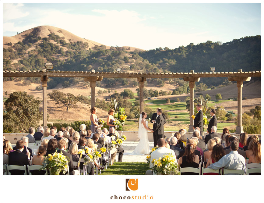 Spectacular views wedding ceremony at Clos La Chance