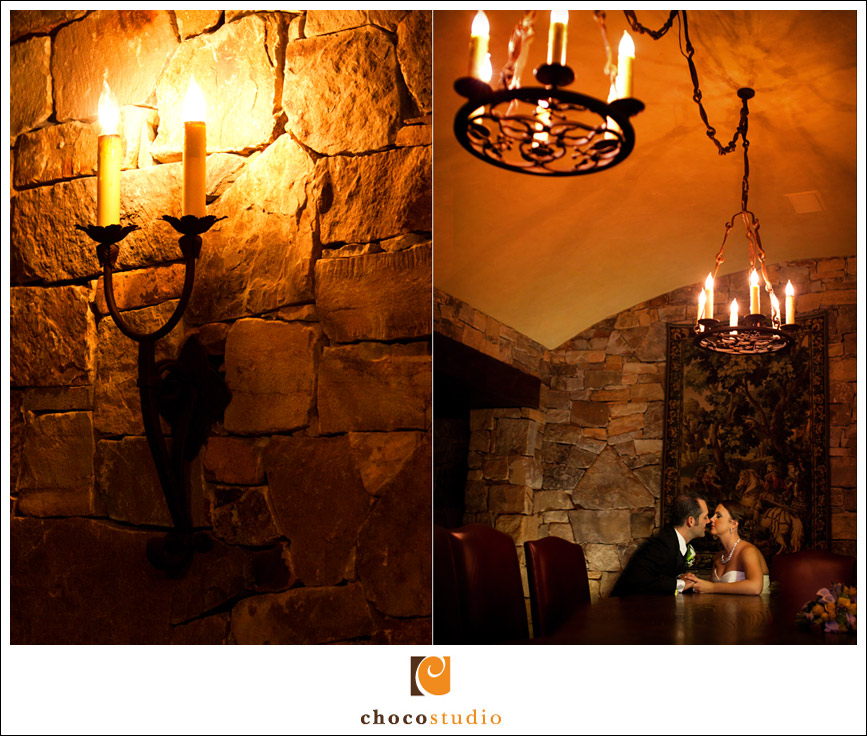 Clos La Chance wedding Cellar Room portrait