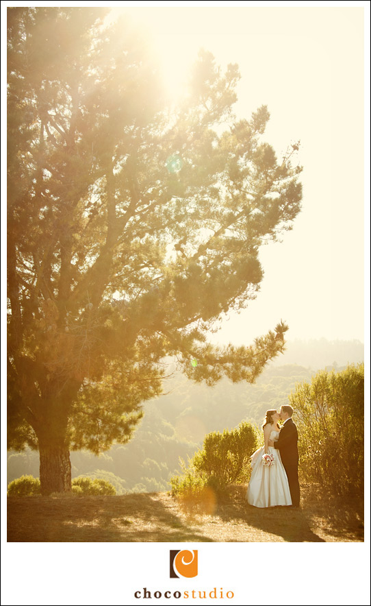 Bride and groom at Crystal Springs Golf Course