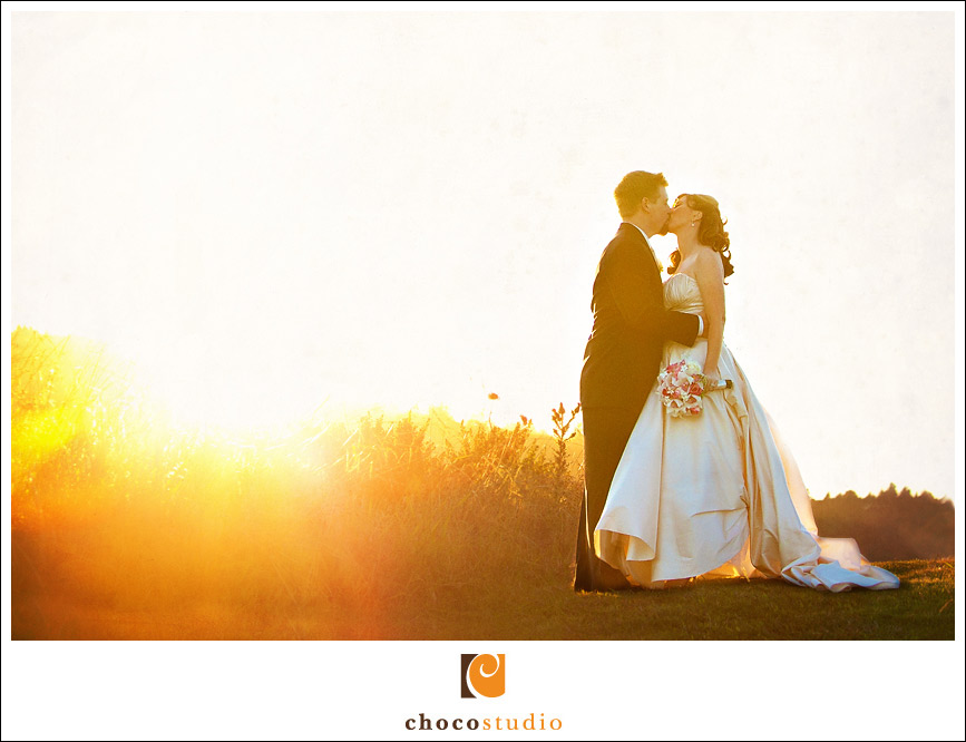 Sunset at Crystal Springs Golf Course wedding