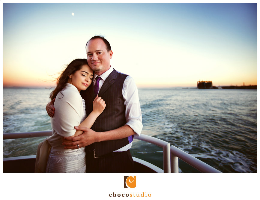 San Francisco Yacht Wedding Portrait