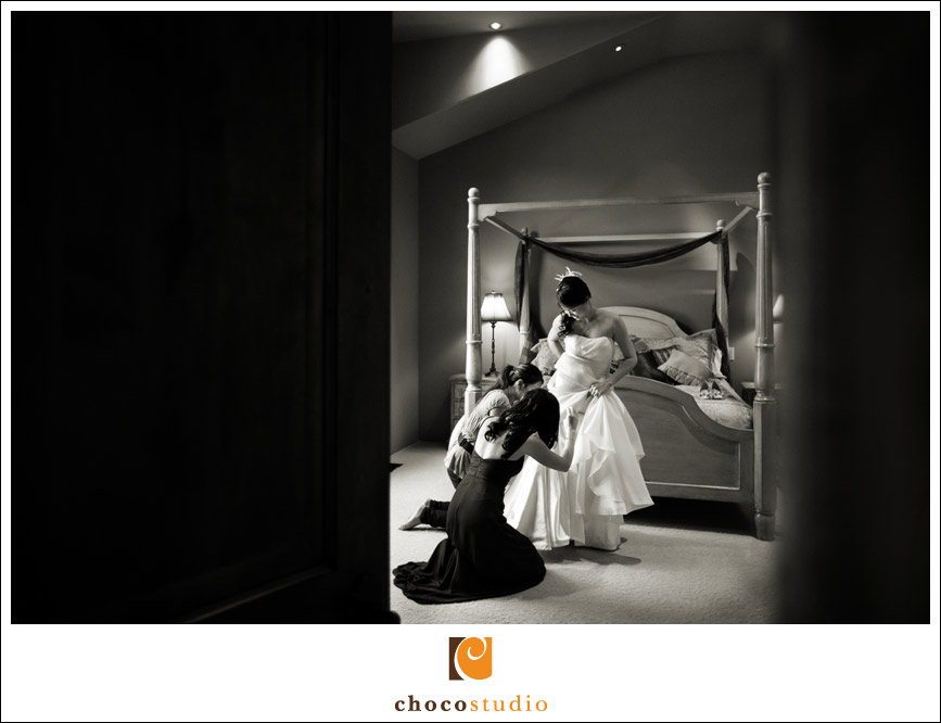 Bridal preparations in Wine Country