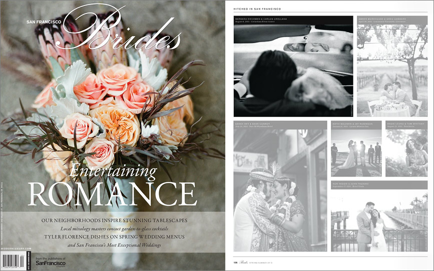 San Francisco Brides Magazine feature