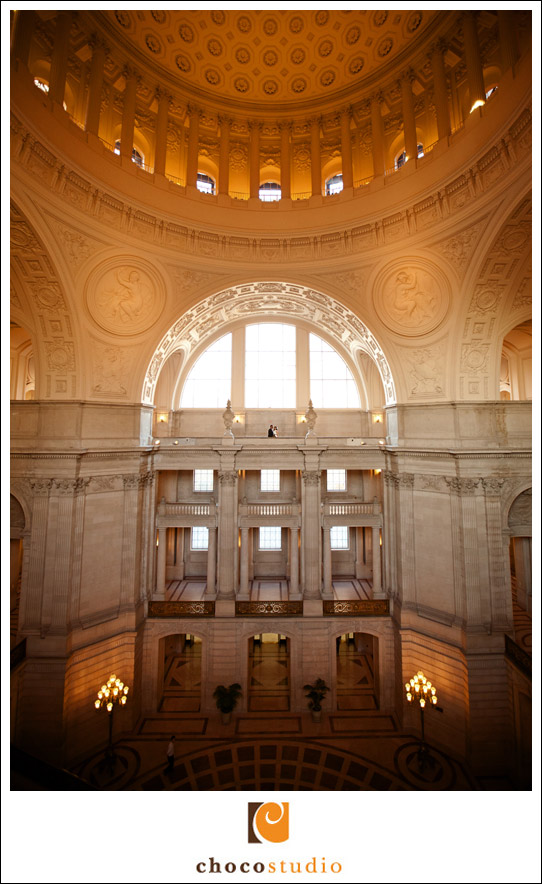 San Francisco City Hall edgy wedding photography