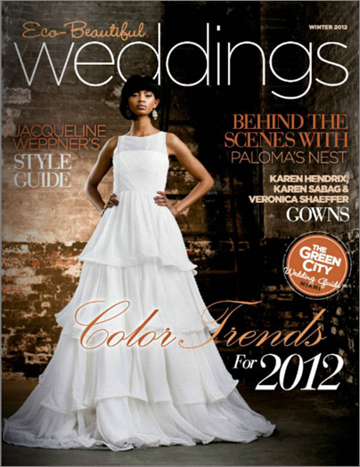 "A Dawn Ranch Lodge Wedding is featured in the ""Eco-Beautiful Weddings"" Magazine!"