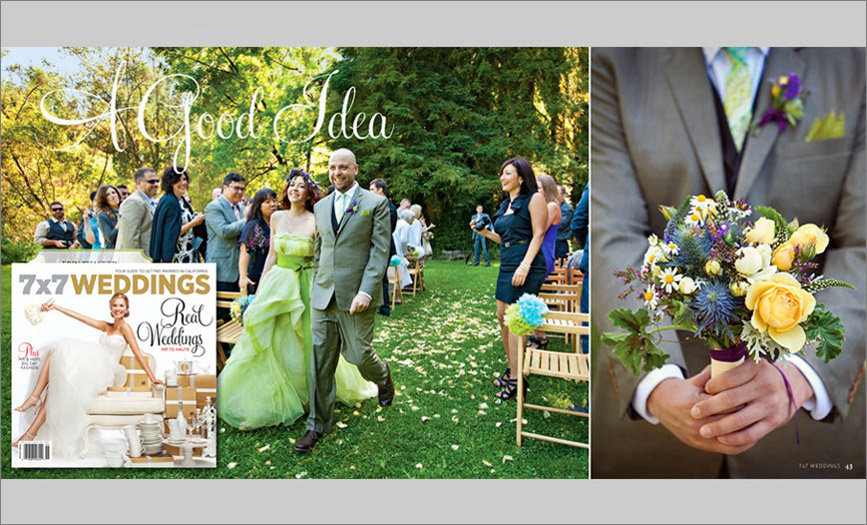 Bay Area wedding photography published 7x7 magazine