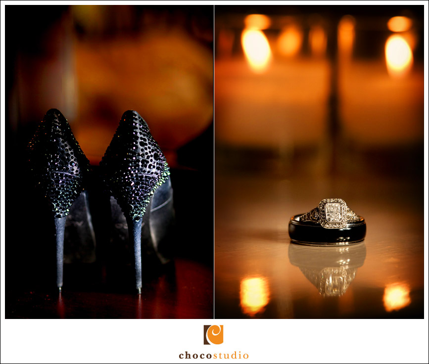 Black bridal shoes