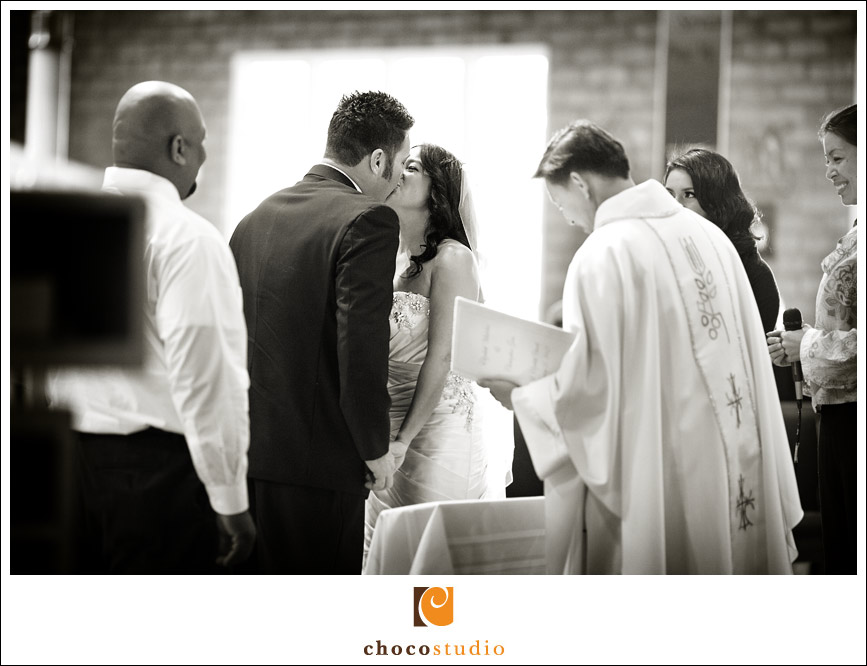 First kiss in a church