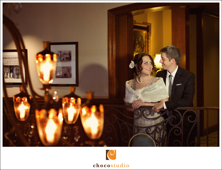 Romantic Bride and Groom Portrait at The Rose Hotel