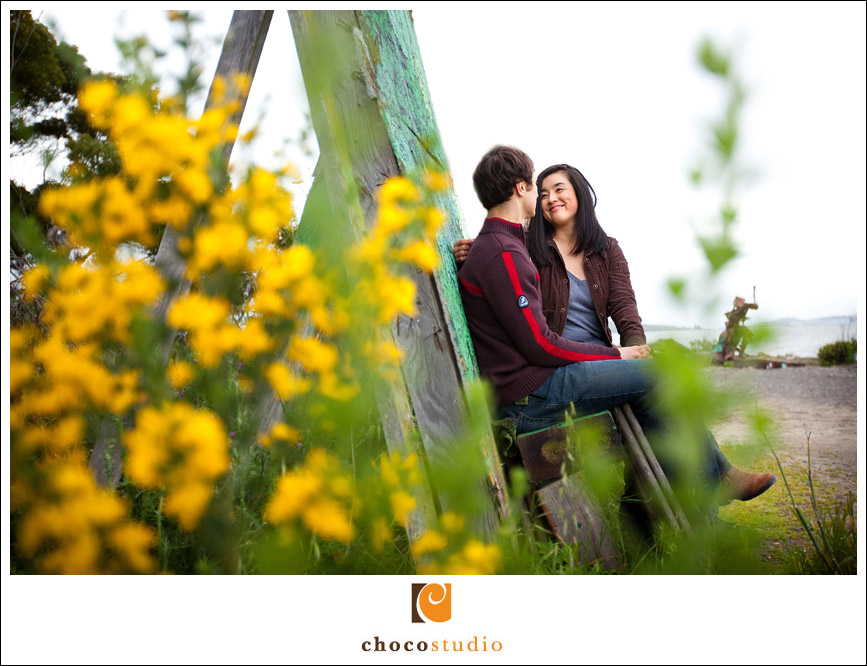 Engagement Session in flowers