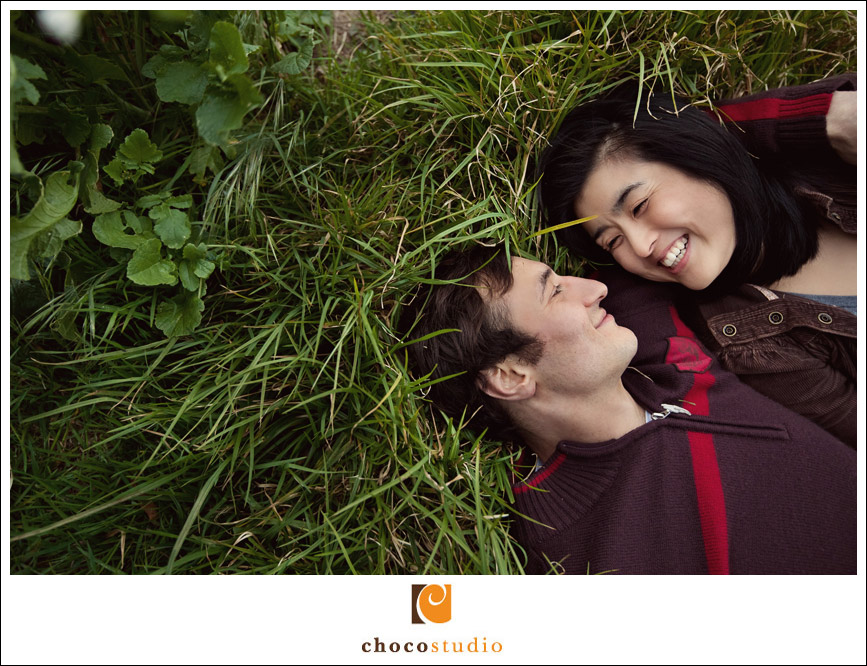 Engagement Session in the grass