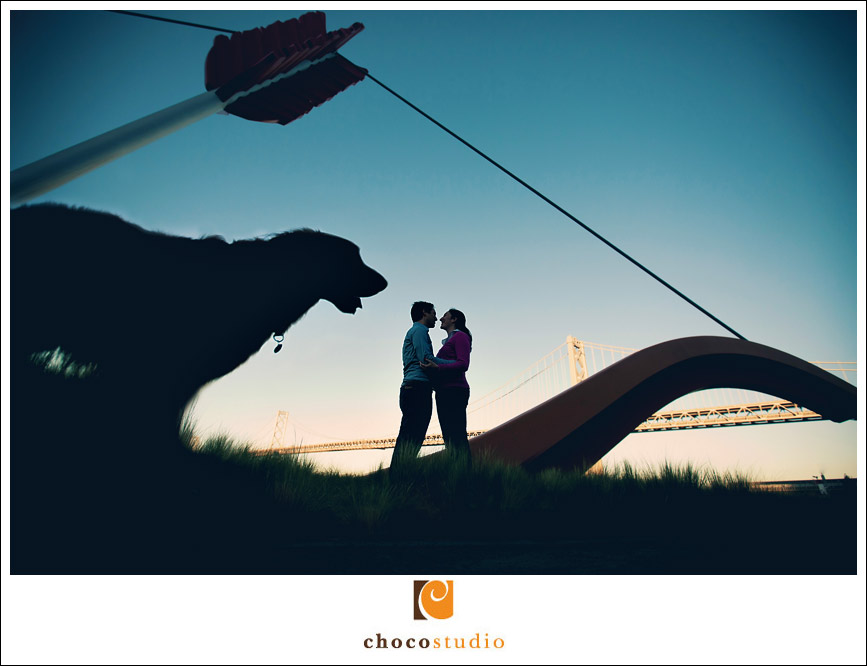 Embarcadero Engagement Session Bow and Arrow