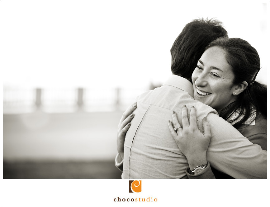 Embarcadero Engagement Session Black and White