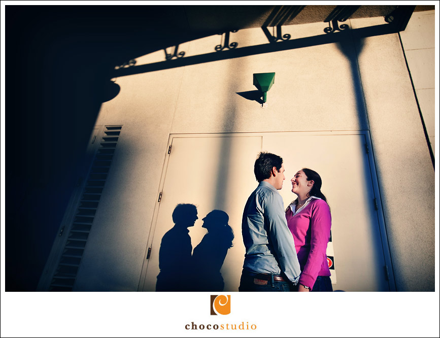 Embarcadero Engagement Session Photo Shadow Play