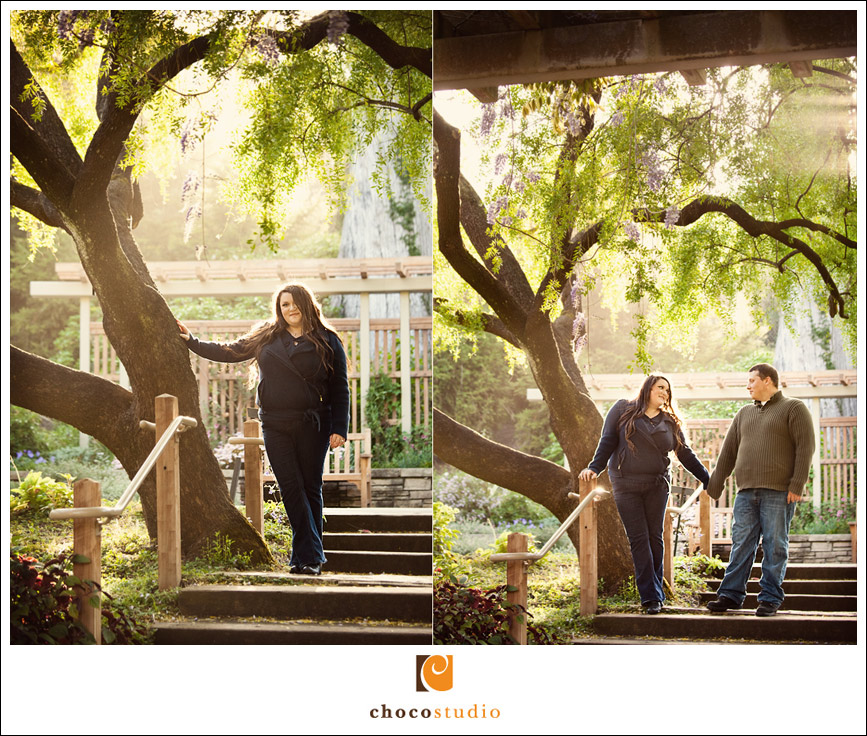 San Francisco Arboretum engagement photography