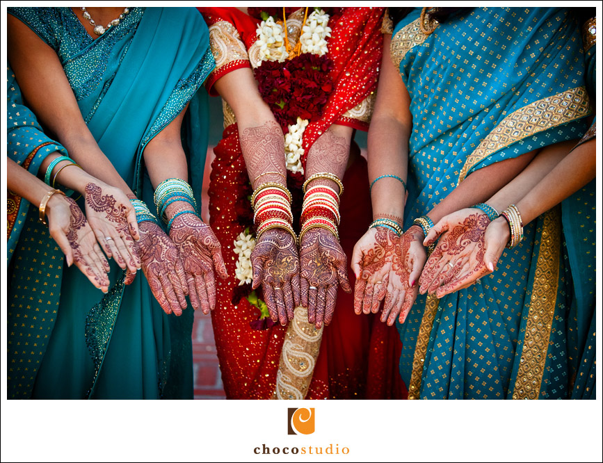 Bridesmaid hands with henna Palmdale Estates