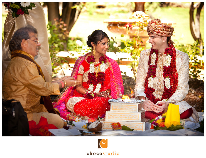 Indian Wedding Ceremony Sunken Gardens Mandap Palmdale Estates