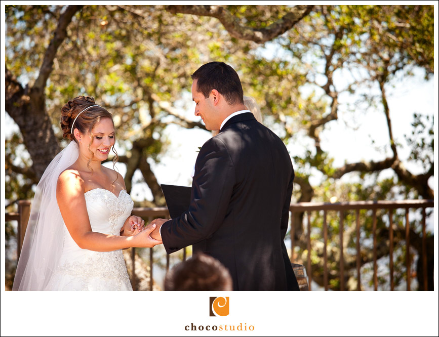Mountain Winery Vista Point wedding ceremony