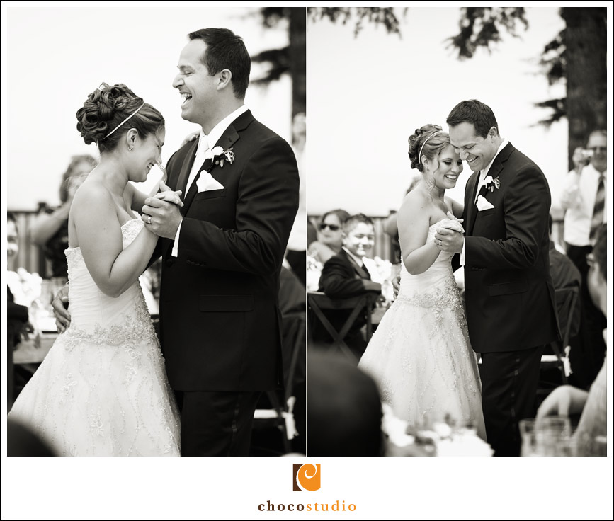 Emotional first dance on the Chateau Deck