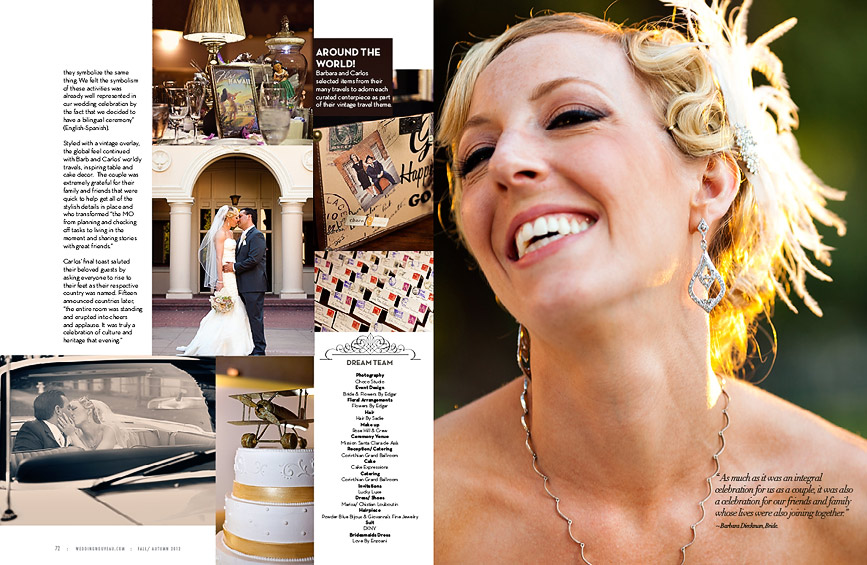 Bay Area Wedding Photographer Published in Bridal Magazine