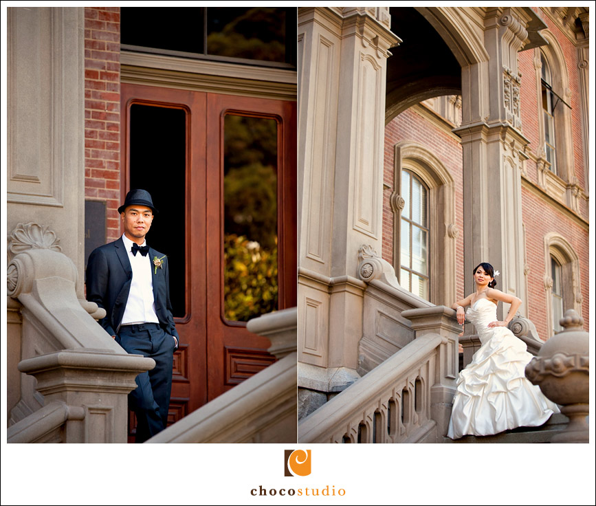 Wedding portraits at UC Berkeley