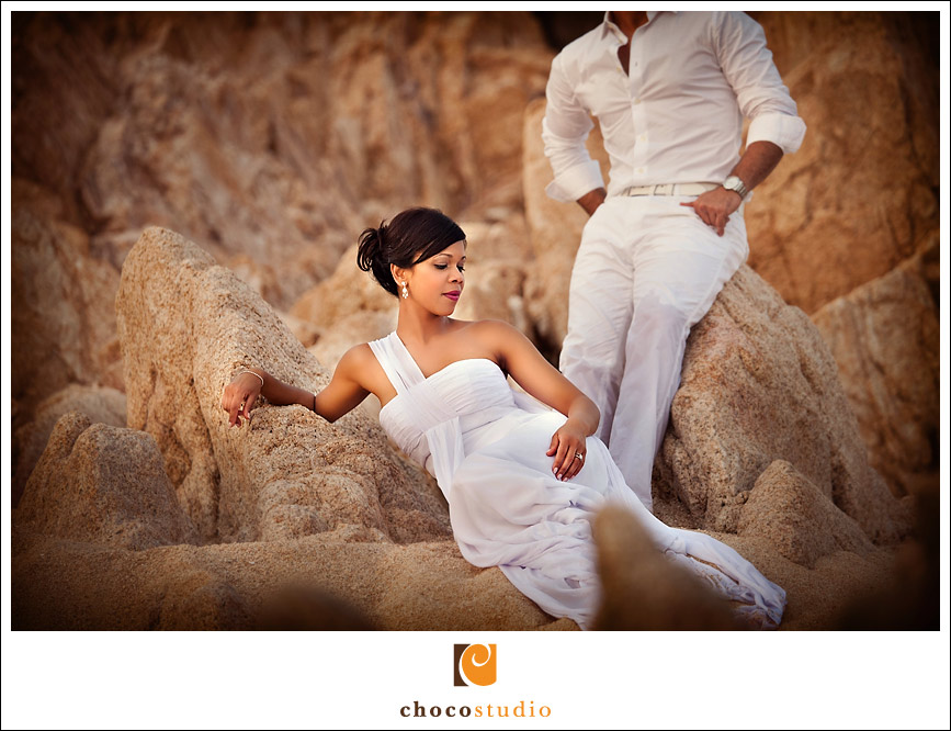 Cabo San Lucas beach Trash the dress sesison