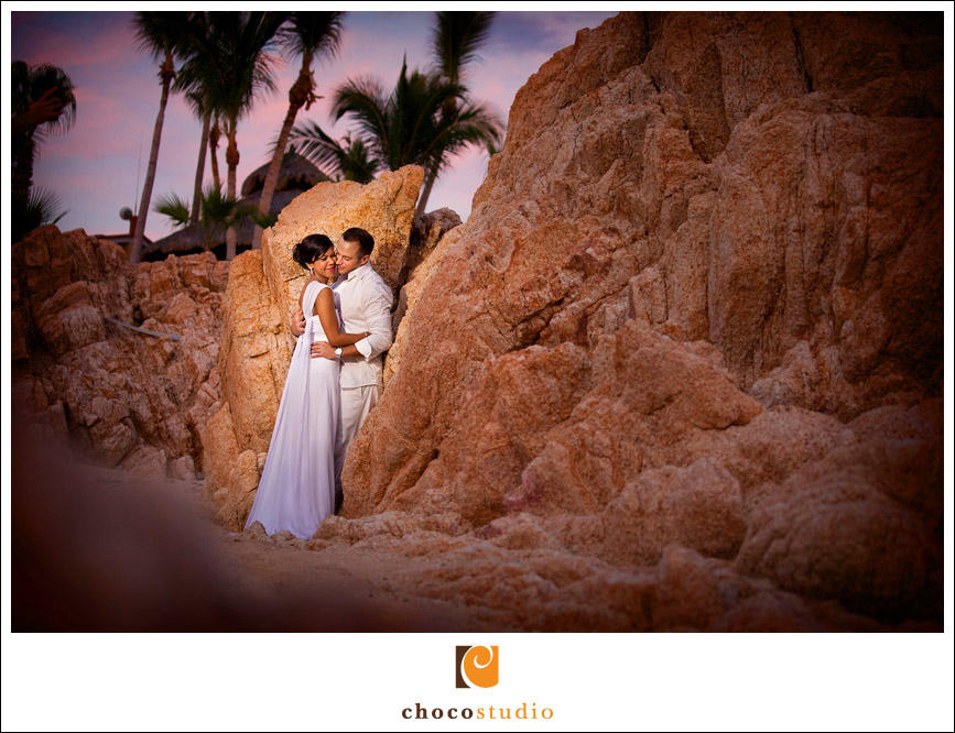 Destination wedding beach portrait in Cabo