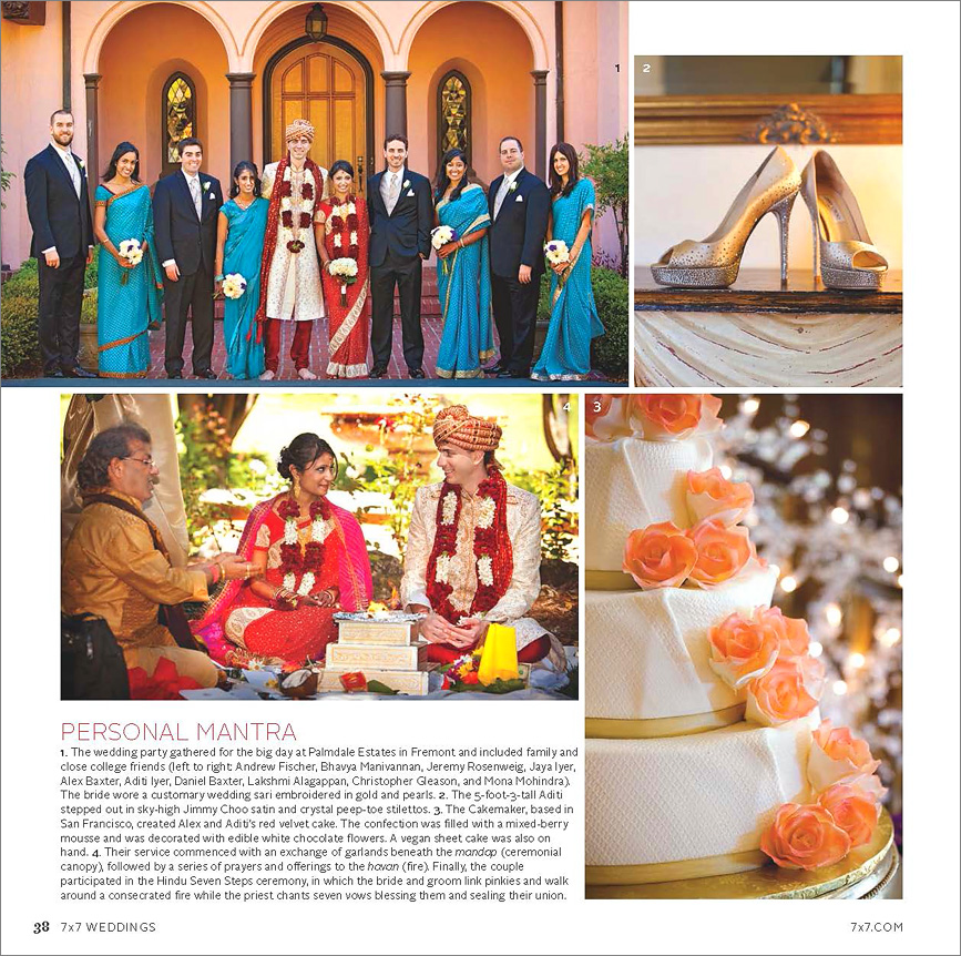 San Francisco wedding photography published magazine