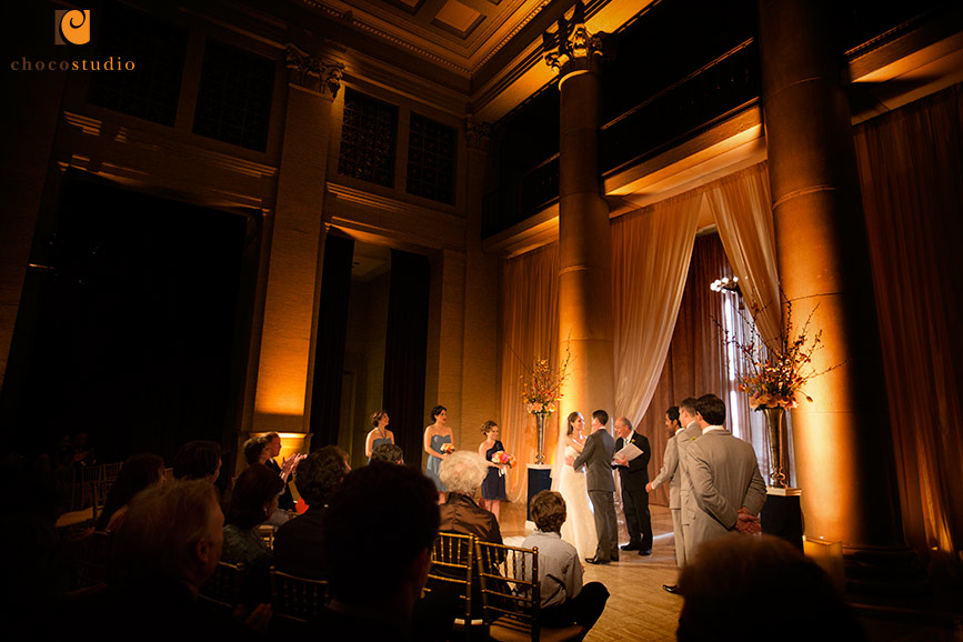 First kiss during wedding ceremony at Bently Reserve