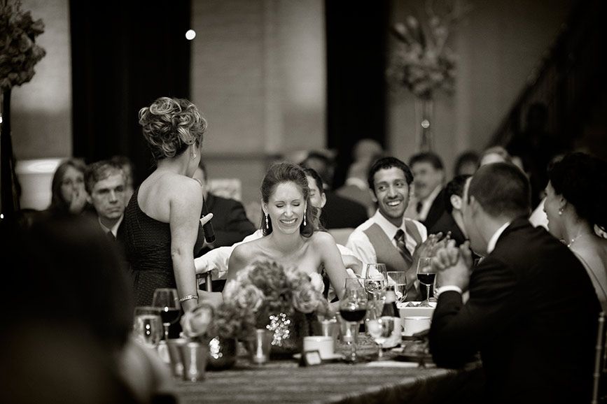 Intimate wedding reception at Bently Reserve