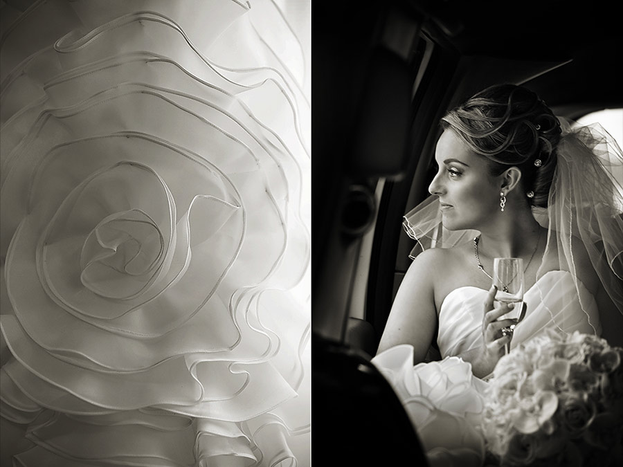 Bride waiting for groom at Four Seasons San Francisco hotel