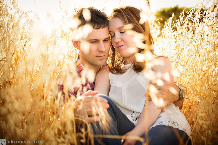 Intimate engagement in the field of tall grass