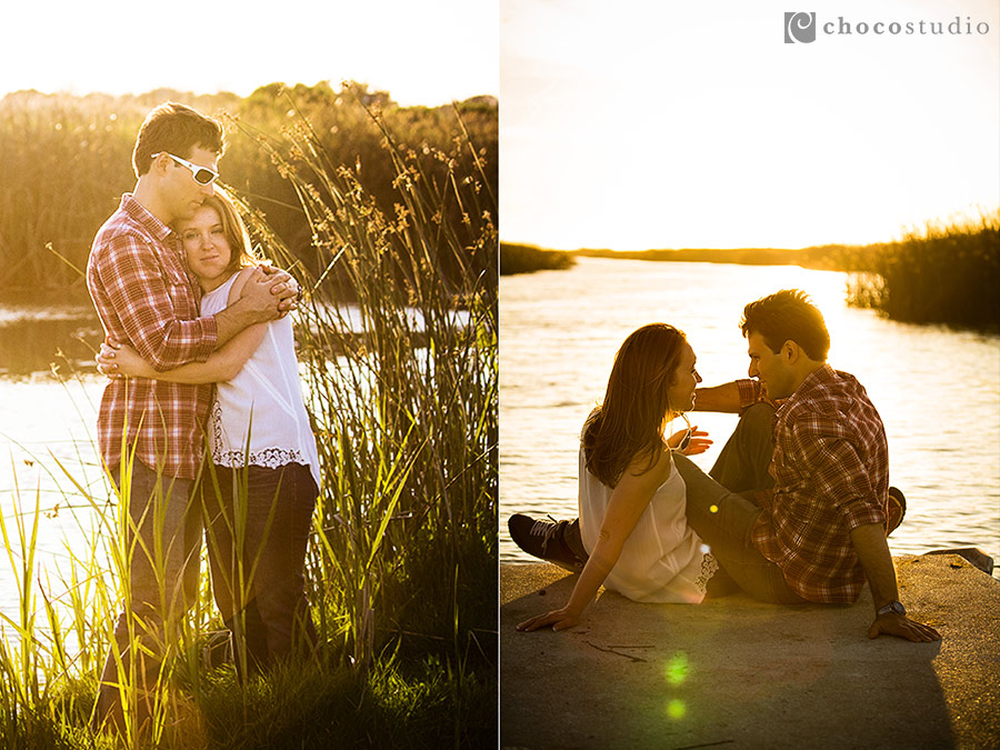 Natural engagement session in nature Bay Area