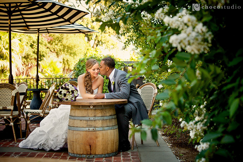 Vintage Inn Yountville wedding bride and groom