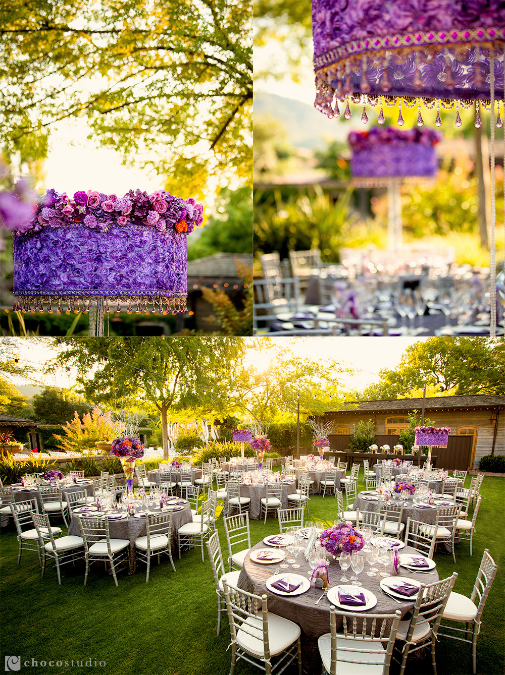 Vintage Inn Yountville wedding reception details