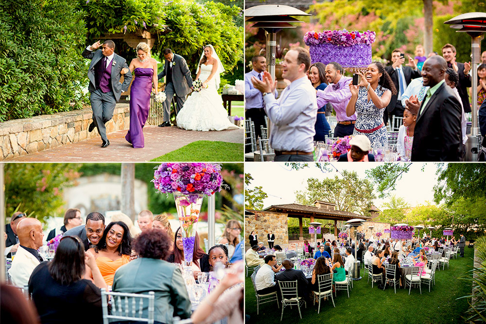 Having fun at Vintage Inn Yountville wedding