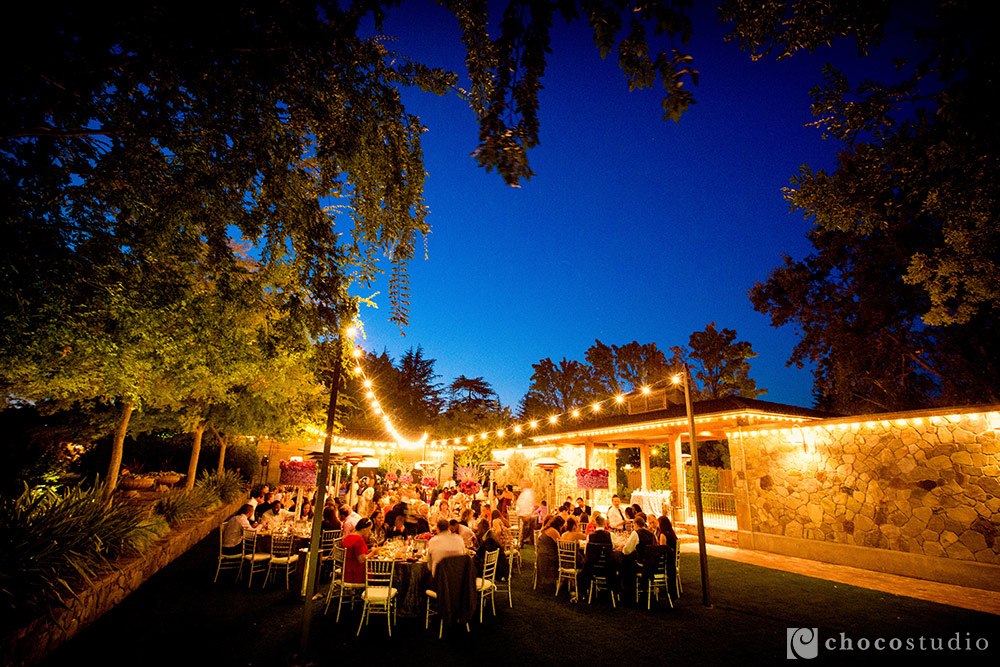 Vintage Inn Yountville night wedding photography