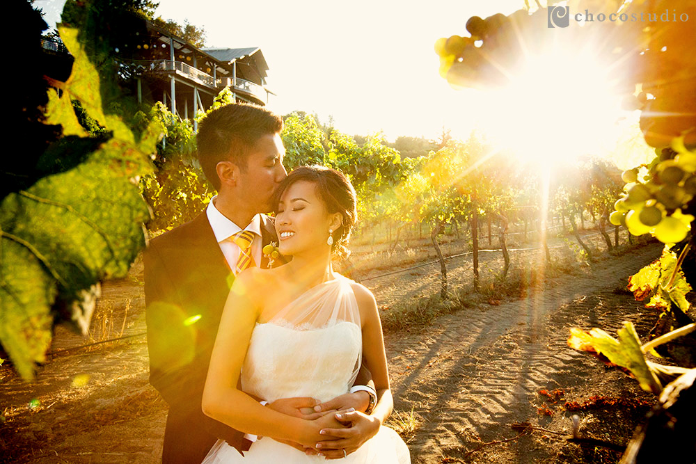 Thomas Fogarty Winery wedding portrait