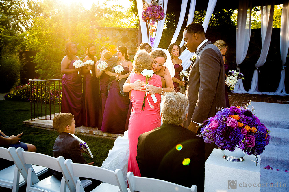 Yountville emotional wedding ceremony