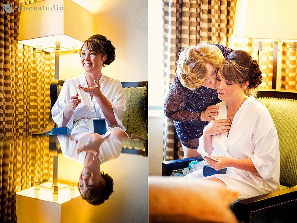 Emotional bridal preparation at Villa Ragusa Wedding
