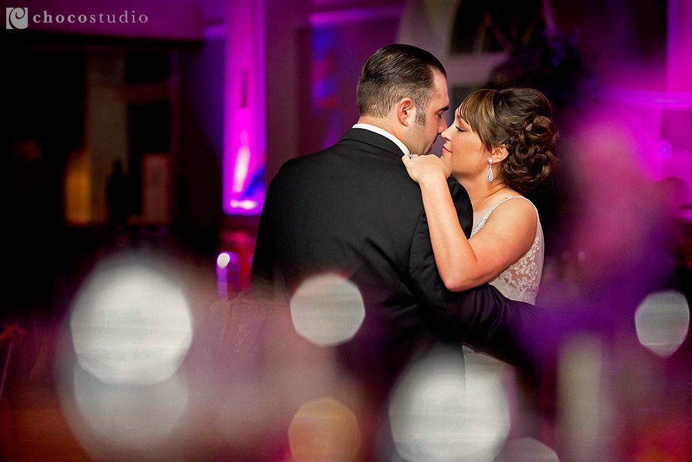 Bride and groom first dance at Villa Ragusa wedding reception in Campbell
