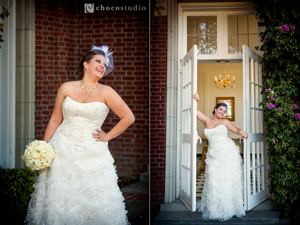Bridal portraits at Kohl Mansion