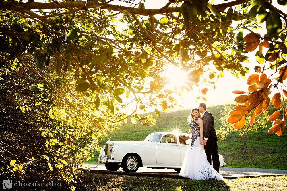 Rolls Royce natural and intimate engagement session
