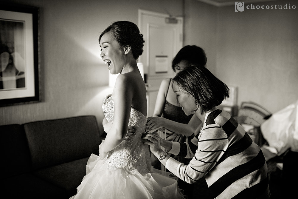 Mountain Winery Picture with bridal preparations