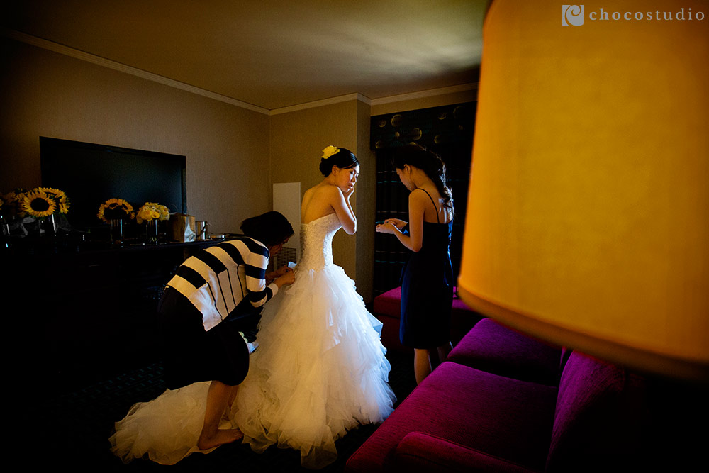 Mountain Winery Wedding Photo with Bridal Preparations