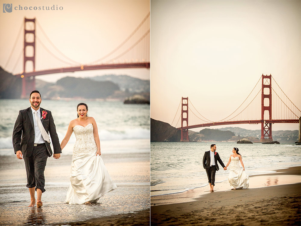Baker Beach Golden Gate Bridge Anniversary Portrait