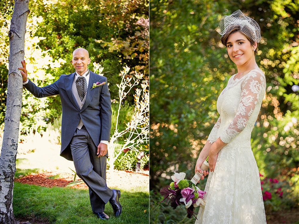 Bride Groom Wedding Portraits Los Altos
