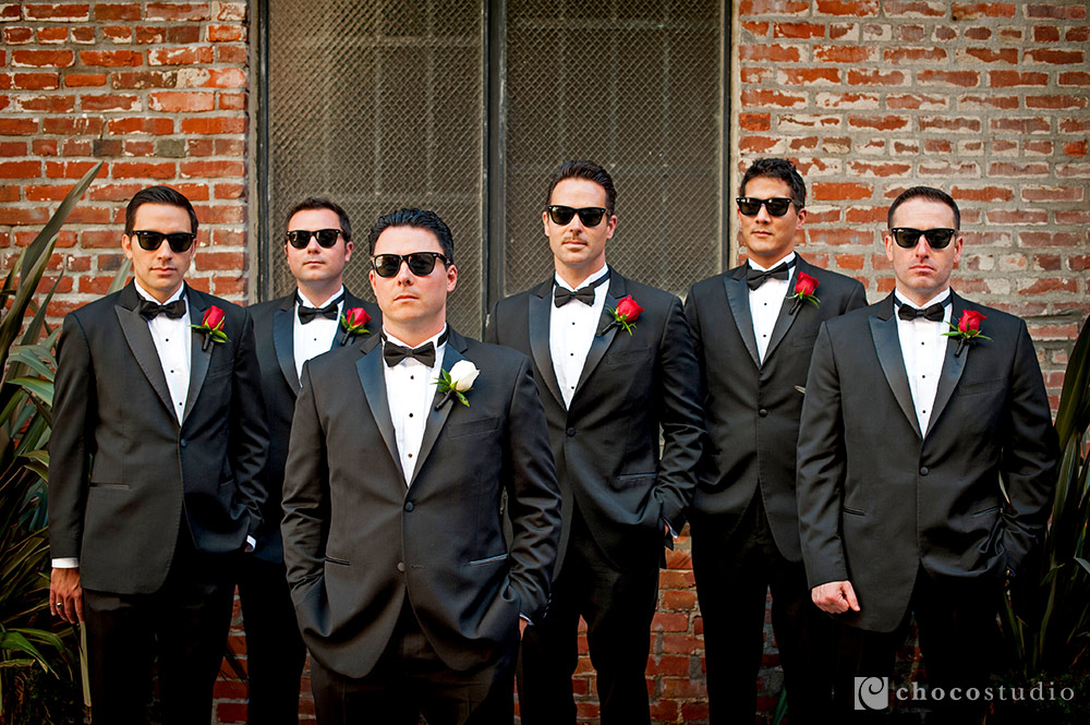 Groomsmen in Sunglasses Portrait Wedding