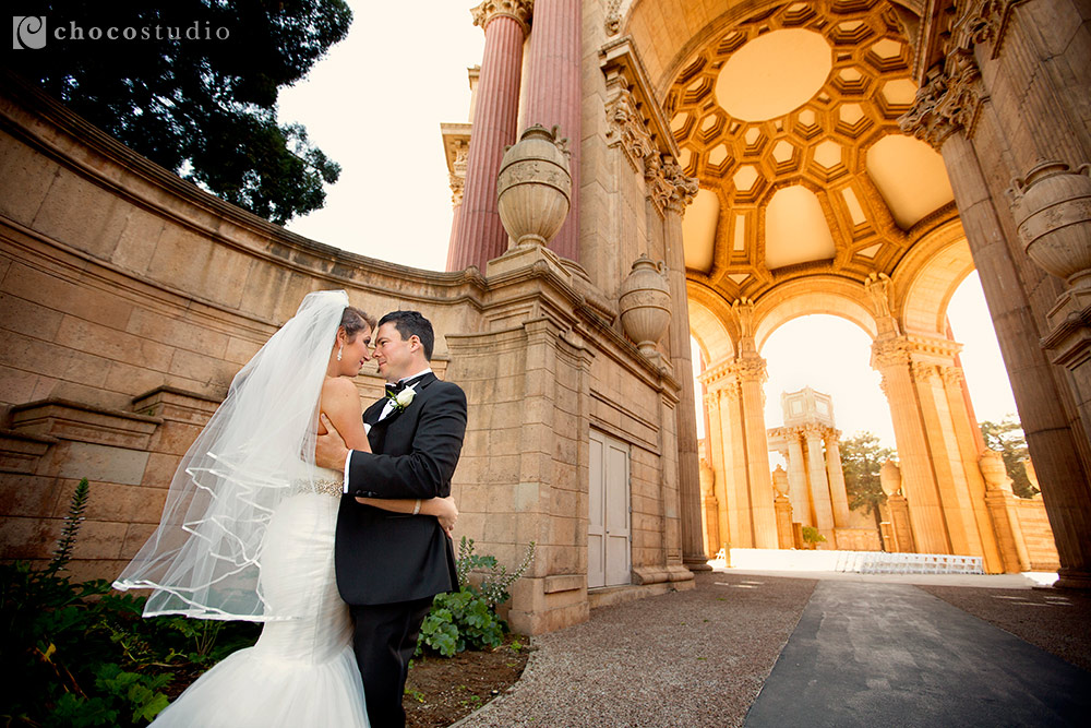 Palace Fine Arts Wedding Photo