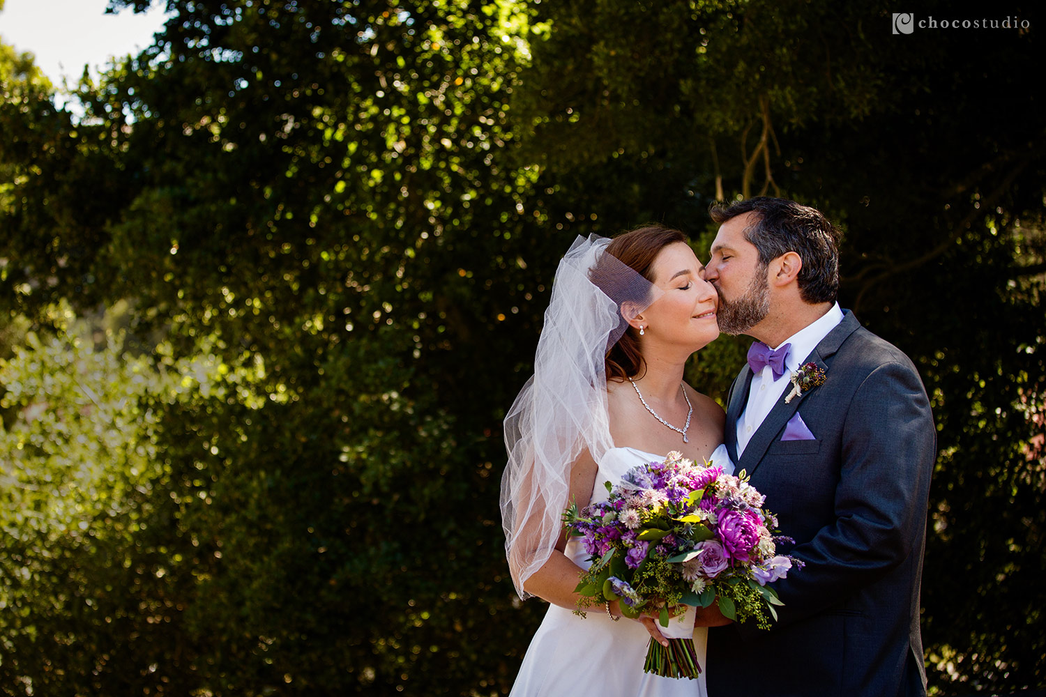 Bride and Groom Portrait at Cavallo Point Lodge